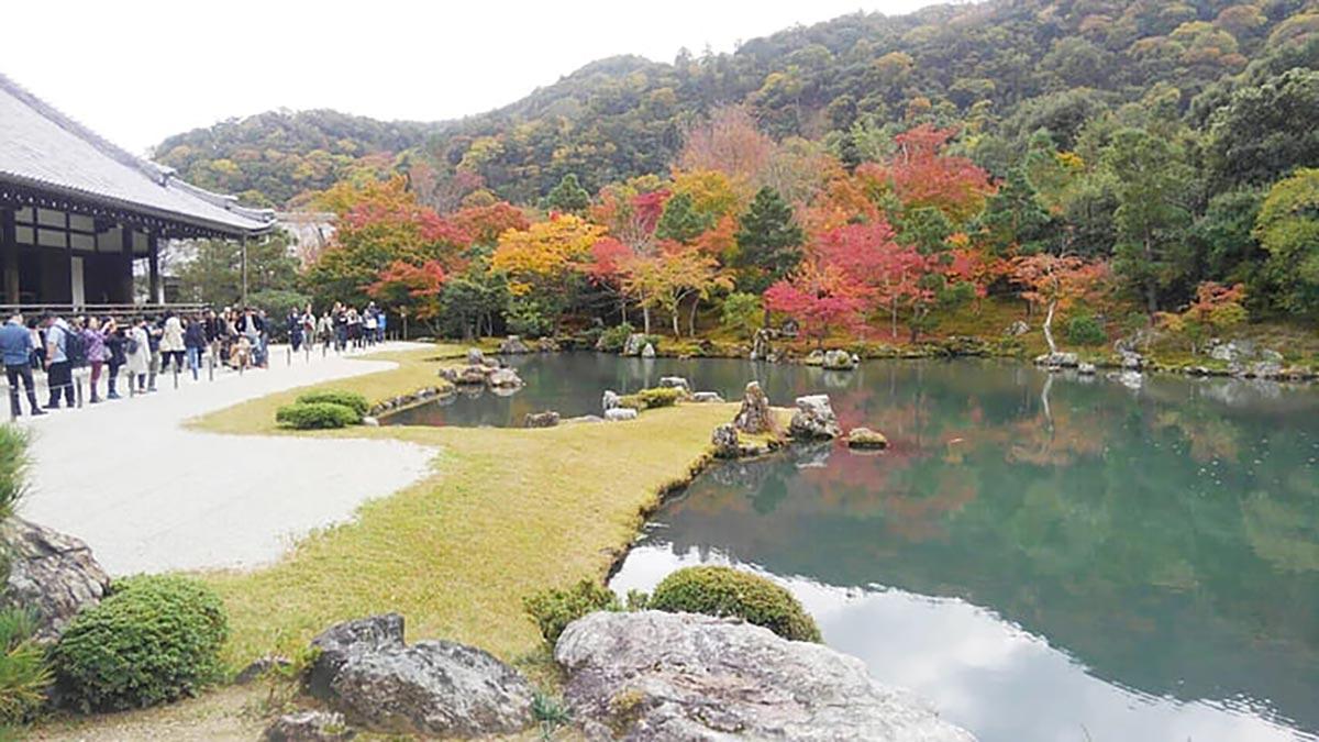 天龍寺 曹源池(そうげんち)庭園の紅葉