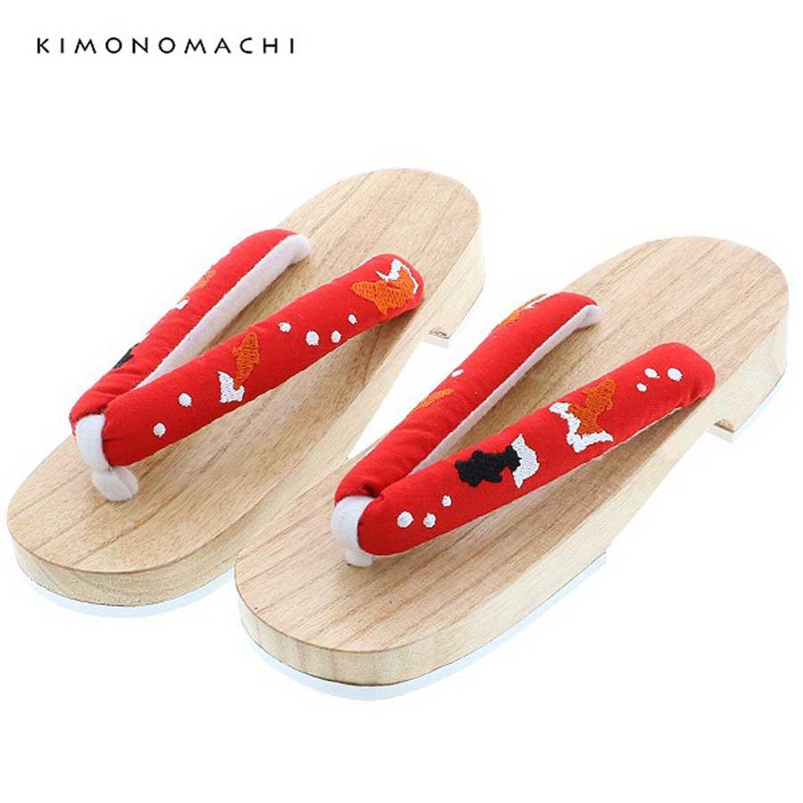 商品番号:044624 商品名: KIMONOMACHI下駄単品「金魚 赤」フリーサイズ 女性下駄 価格:4,320円(税込)