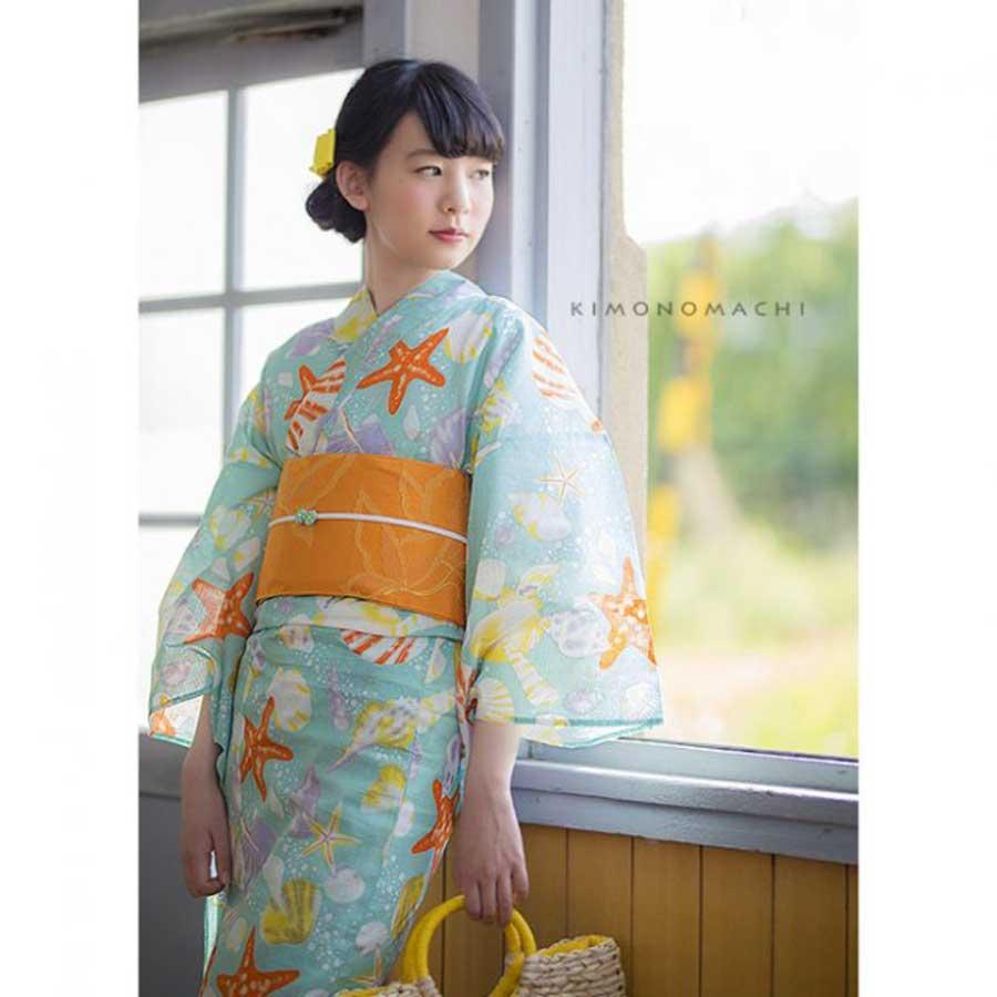 商品番号:036593 商品名:夏色美人 KIMONOMACHI 選べる女性浴衣単品 変わり織り浴衣