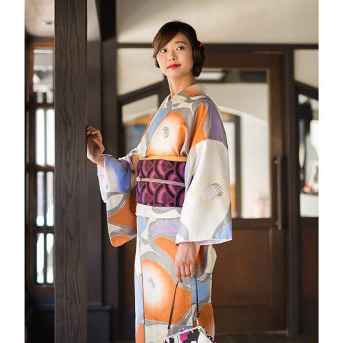 橙×青×白 椿