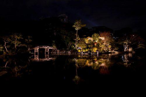 渉成園(枳殻邸・きこくてい)のライトアップ