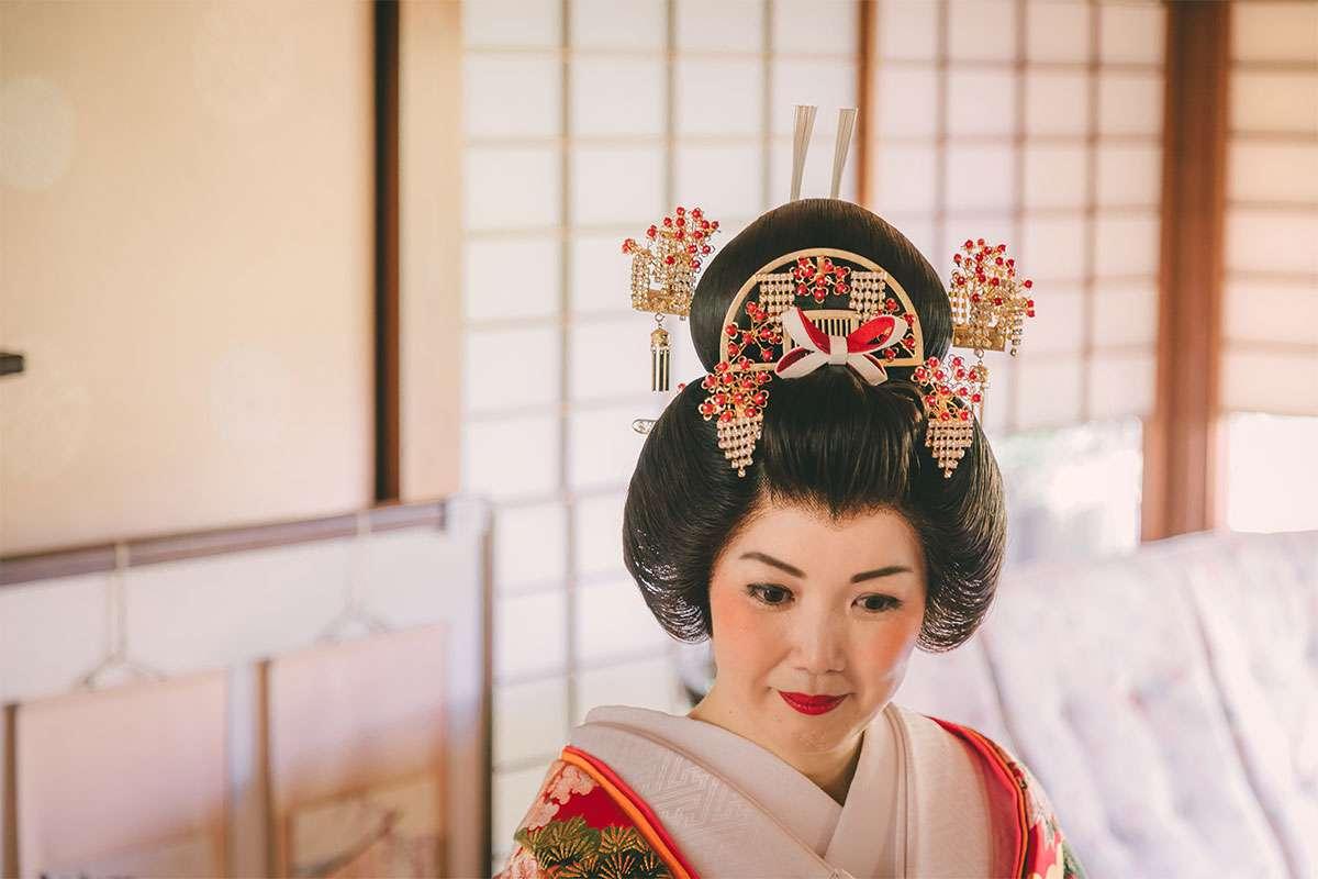 色打掛・日本髪