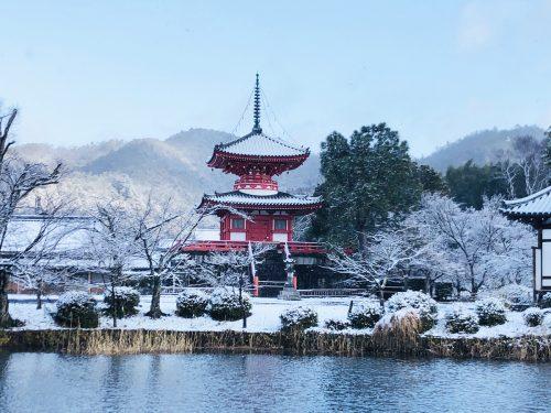 大覚寺雪景色