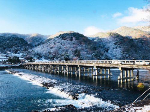 嵐山雪景色